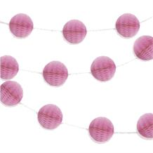 Hot Pink Mini Honeycomb Garland Party Hanging Decorations