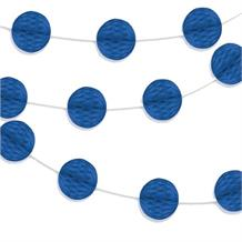 Royal Blue Mini Honeycomb Garland Party Hanging Decorations
