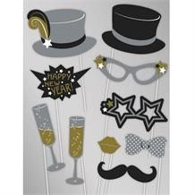 Happy New Year | Top Hat Photo Booth Party Props
