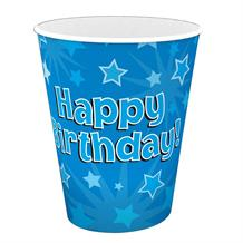 Blue Star Happy Birthday Party Cups