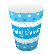Blue Polka Dot Baby Shower Party Cups