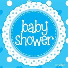 Blue Polka Dot Baby Shower Party Napkins | Serviettes