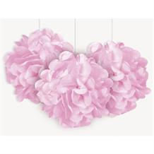 "Baby Pink 9"" Puff Ball Party Hanging Decorations"