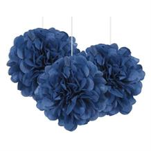 "Royal Blue 9"" Puff Ball Party Hanging Decorations"
