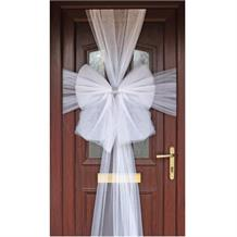 White Eleganza Door Bow | Decoration
