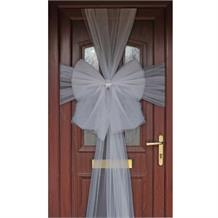 Silver Eleganza Door Bow | Decoration