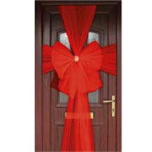 Red Eleganza Door Bow | Decoration