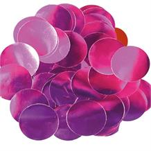 Hot Pink Metallic Foil 15mm Table Confetti | Decoration