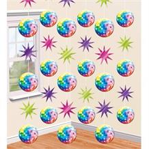 1970's Disco Ball Hanging String Party Decorations