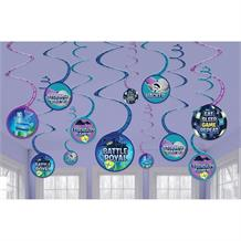 Battle Royal | Gaming Party Hanging Swirl Decorations