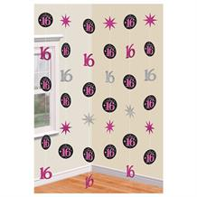 Sweet 16 Birthday Party Hanging String Decorations