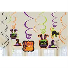 Witches Crew Halloween Hanging Swirls l Decorations