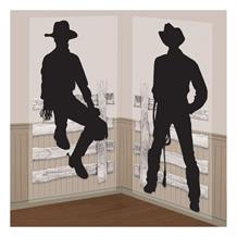 Cowboy Western Silhouettes Party Wall Decoration