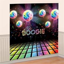 1970's Disco Party Giant Scene Setter Party Decoration