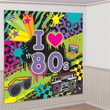1980's Rad Party Giant Scene Setter Party Decoration