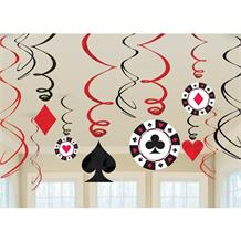 Casino | Roulette Party Hanging Swirl Decorations