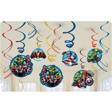 Marvel Avengers Party Hanging Swirl Decorations