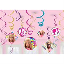Barbie Sparkle Hanging Swirl Decorations