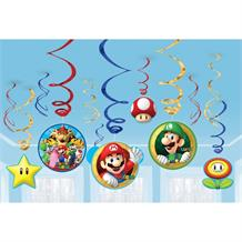 Super Mario Bros. Party Hanging Swirl Decorations