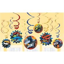 Blaze & the Monster Machines Hanging Swirl Decorations
