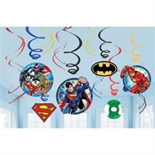 Justice League Party Hanging Swirl Decorations