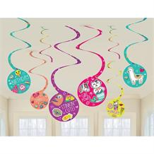 Selfie Celebration Party Hanging Swirl Decorations