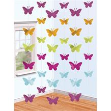 Butterfly | Pink | Green | Purple | Blue Hanging String Party Decorations