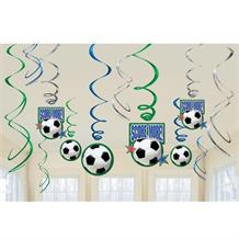 Football Party Hanging Swirl Decorations