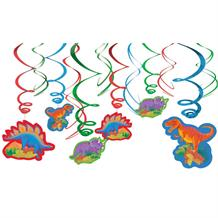 Prehistoric Dinosaur Party Hanging Swirl Decorations