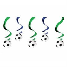 Football | Soccer Party Hanging Swirl Decorations