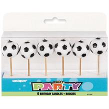 3D Soccer | Football Party Cake Candles | Decoration