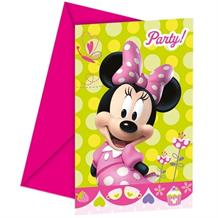 Minnie Mouse Bow-Tique Party Invitations | Invites