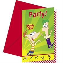 Phineas and Ferb Party Invitations | Invites