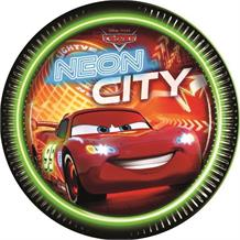 Disney Cars Neon Party Plates