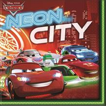 Disney Cars Neon Party Napkins | Serviettes