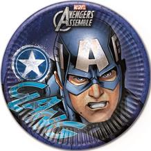 Marvel Avengers Captain America Party Plates