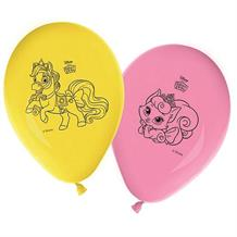 "Princess & Animals Palace Pets 11"" Party Latex Balloons 