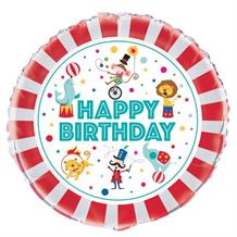 "Circus Carnival Happy Birthday 18"" Foil 