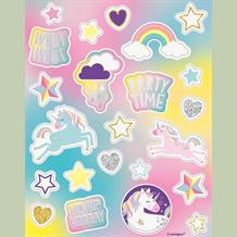 Unicorn Rainbow Party Bag Favour Sticker Sheets