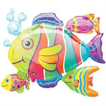 Tropical Fish Cluster Shaped Foil | Helium Balloon