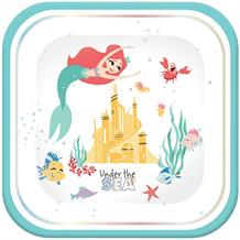 Ariel the Little Mermaid Square Platter Party Plates