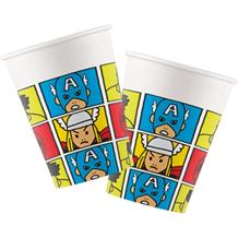 Marvel Avengers Pop Art Paper Party Cups 200ml