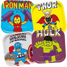 Marvel Avengers Pop Art Square Platter Party Plates