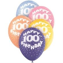 100th Birthday Party Latex Balloons