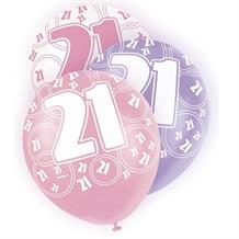 Pink Glitz 21st Birthday Party Latex Balloons-Balloons