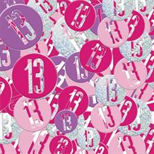 Pink and Silver Holographic 13th Birthday Table Confetti | Decoration