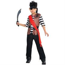 Ahoy Captain Pirate Boys Fancy Dress Up Costume