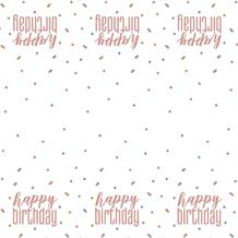 Rose Gold Holographic Happy Birthday Party Tablecover | Tablecloth