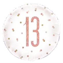 "Rose Gold Holographic 13th Birthday 18"" Foil 