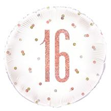 "Rose Gold Holographic 16th Birthday 18"" Foil 